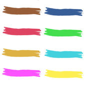 Set of colourful design elemets isolated on backgroung. Set of blots, design elements illustrations — Foto de Stock