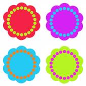 Set of colourful design elemets isolated on backgroung. Set of blots, design elements illustrations — Stock Photo