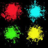 Backgroung üzerinde izole renkli tasarım elemets kümesi. Lekesi, tasarım öğeleri illüstrasyonlar kümesi — Stok fotoğraf