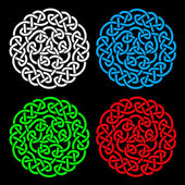 Colorful round design elements (vintage, grunge, graphic art design elements), White, Blue, Green, Red design illustration elements — Stock Photo