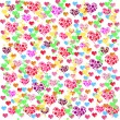 Colorful illustrations of love hearts on white background. Set of love hearts silhouette. Love hearts colorful backgrounds for Valentine's Day card, Birthday card. — Stock Photo #61526581