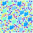 Colorful illustrations of love hearts on colorful background. Set of love hearts silhouette. Love hearts colorful backgrounds for Valentine's Day card, Birthday card. — Stock Photo #61526705
