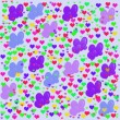 Colorful illustrations of love hearts on colorful background. Set of love hearts silhouette. Love hearts colorful backgrounds for Valentine's Day card, Birthday card. — Stock Photo #61526709