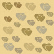Abstract love sweet heart for greeting, valentines day card, retro background. Greeting cards love heart background. Love sweet hearts shape for greeting, love retro, vintage pattern, background. — Stock Photo #64655631