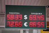 Russian bank electronic panel — Stock Photo