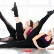 Group of women on fitness lesson — Stock Photo #65625861