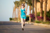 Running training outside — Stock Photo