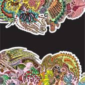 Hand drawn ornamental doodle — Stock Vector