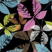 Höstlöv, sömlösa mönster — Stockvektor