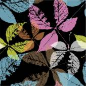 Autumn leaves, seamless pattern — Stock Vector