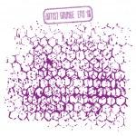 Grunge hexagons background — Stock Vector #60768353