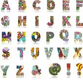 Colorful children alphabet — Vetor de Stock