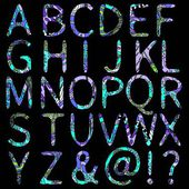 Colorful children alphabet — Stock Vector