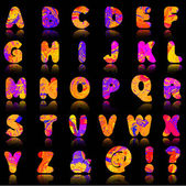 Colorful alphabet letters — Stock Vector