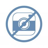 Camera ban icon — Stock Vector