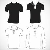 T-shirt and long sleeve template — Vecteur