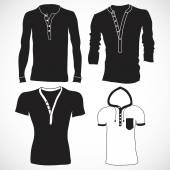 T shirt, jerseys and sweater set — Stock Vector