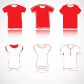 T-shirt, jerseys and sweater set — Stock Vector