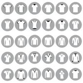 T shirt, jerseys and sweaters — Stock Vector