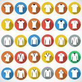 T shirt Icons sign — Vetor de Stock