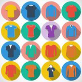 T shirt Icons — Stock Vector