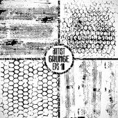 Grunge set textures — Vector de stock
