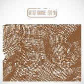 Textura de tela marrón — Vector de stock