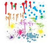 Resumen antecedentes artísticos — Vector de stock