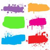 Ink grunge banners. — Stock Vector