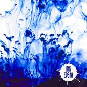Blue ink cloud swirling in water — Stock Vector