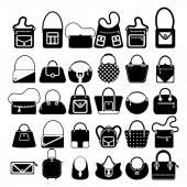 女性バッグ シルエット — ストックベクタ