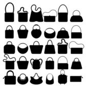 Women bags silhouette — Stock Vector