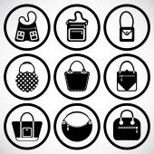 Bags Icons set — Vetorial Stock