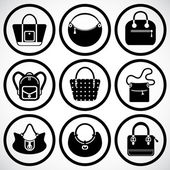 Bags Icons set — Stock Vector