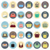 Bag icons set — Stock Vector
