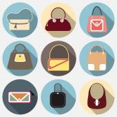 Set of fashion bags — 图库矢量图片