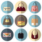 Bag icons for app — Stock Vector