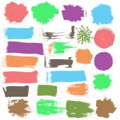 Ink grunge stains — Stock Vector