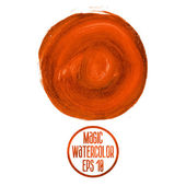 Orange watercolor stains — Vettoriale Stock