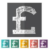 Pound icon set — Stock Vector