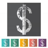 Dollars sign icon — Stock Vector