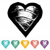 Hearts icons: love — Vector de stock