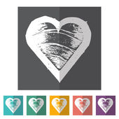 Hearts icons:  love — Stok Vektör