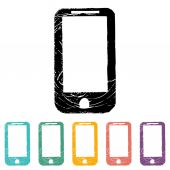 Phone flat icon set — Stock Vector