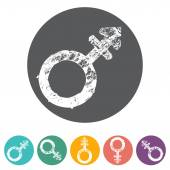 Gender symbol icons — Stock Vector
