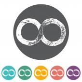 Infinity symbols icons — Vetor de Stock