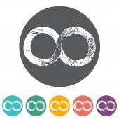 Infinity symbols icons — Stockvektor