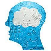 Brain Heads Icon — Stock Vector