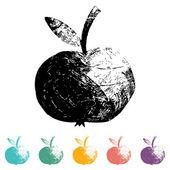 Apple Icons, flat, — Stock Vector