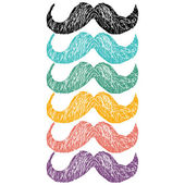 Mustache flat icons — Stock Vector
